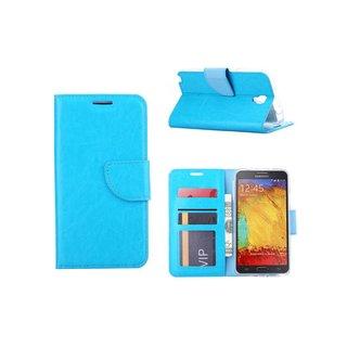 Luxe Lederen Bookcase hoesje voor de Samsung Galaxy Note 3 Neo - Blauw