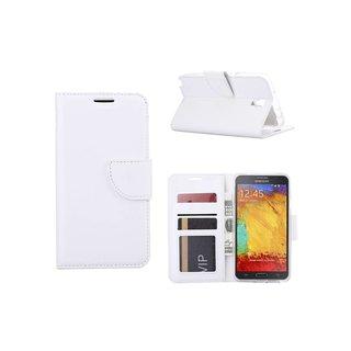 Luxe Lederen Bookcase hoesje voor de Samsung Galaxy Note 3 Neo - Wit