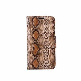 Slangenprint Lederen Bookcase hoesje - Bruin voor de Samsung Galaxy S6