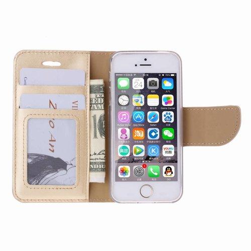 Aztec print lederen bookcase hoesje voor de Apple iPhone 6