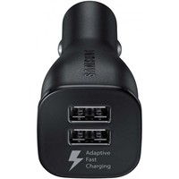 Samsung Originele Adaptive Fast Charging Dual port Autolader 9.0V / 2,0 A met kabel - Zwart