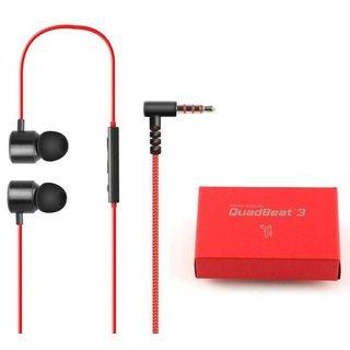 Originele Premium Quadbeat 3 Headset in ear - oordopjes Zwart / Rood