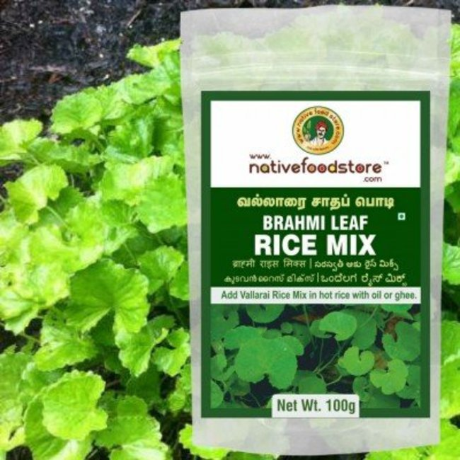 Native Food Brahmi Leaf Rice Mix, 100 gr