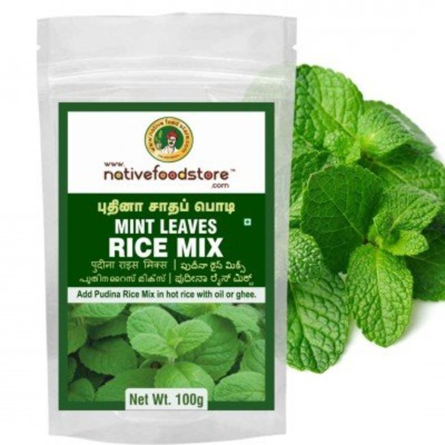 Native Food Mint ,Puthina Leaves Rice Mix - 100 gr