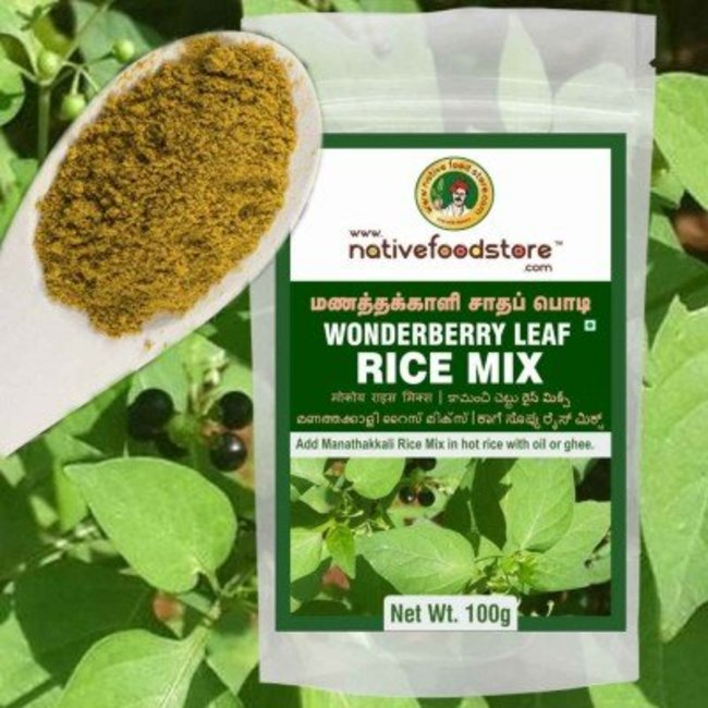 Native Food Wonderberry Leaf Rice Mix, 100 gr