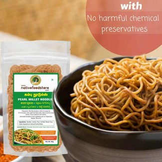 Native Food Pearl  Millet Noodles -70 gr ( Kambu )