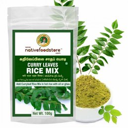 Native Food Curry  Leaves Rice Mix , 100 gr
