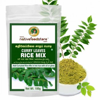 Native Food Curry  Leaves Rice Mix (curry bladeren rijst mix), 100 gr