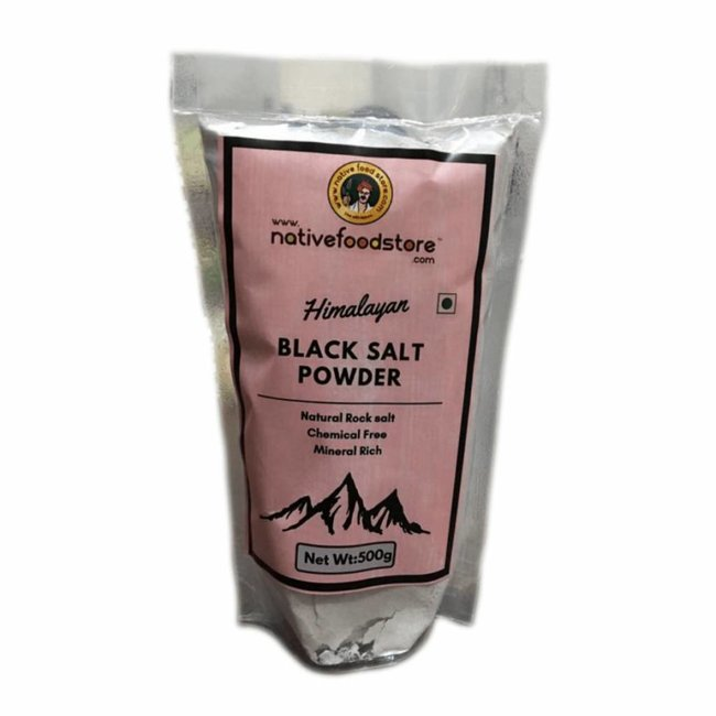 Native Food Himalayan Black Salt Powder, 500 gr