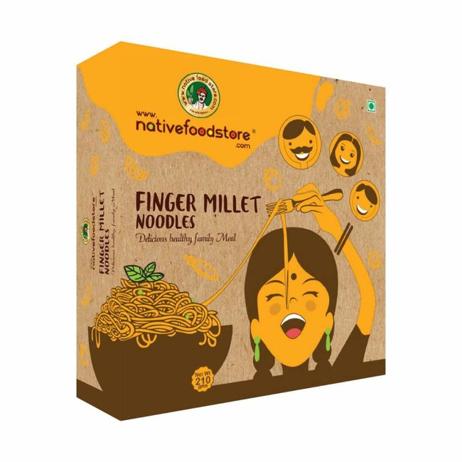Native Food Ragi / Finger Millet Noodles, 210 gr