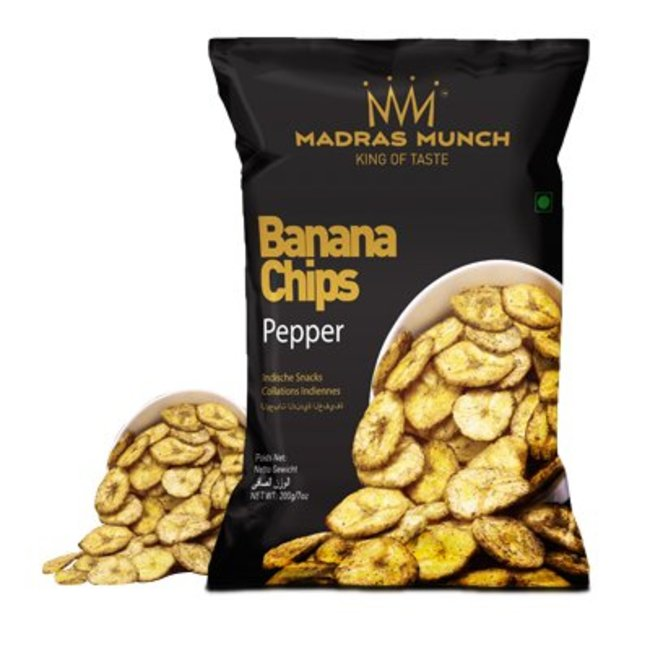 Madras Munch  Banana Chips – Pepper, 200 gr