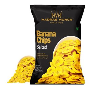 Madras Munch  Banana Chips – Salted 200gr