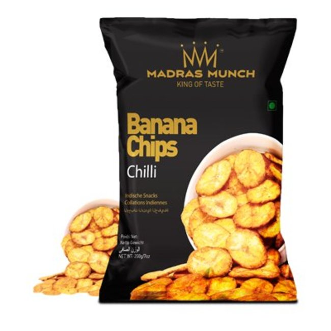 Madras Munch  Banana Chips – Chilli, 200 gr