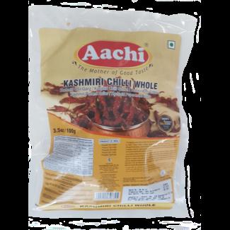 Aachi Masala Kashmiri Chilli (Kasjmiri hele pepers),100 gr