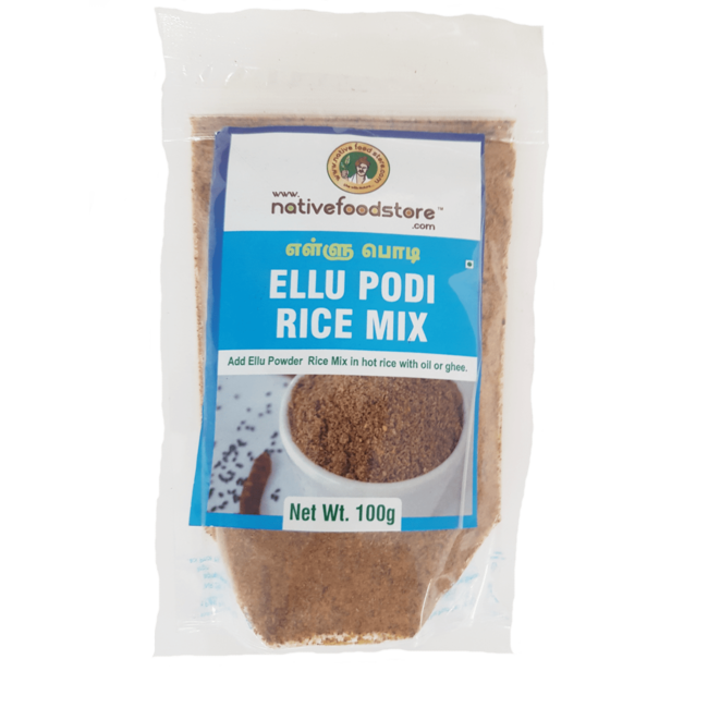 Native Food Ellu Podi Rice Mix (sesam rijst kruidenmix), 100 gr