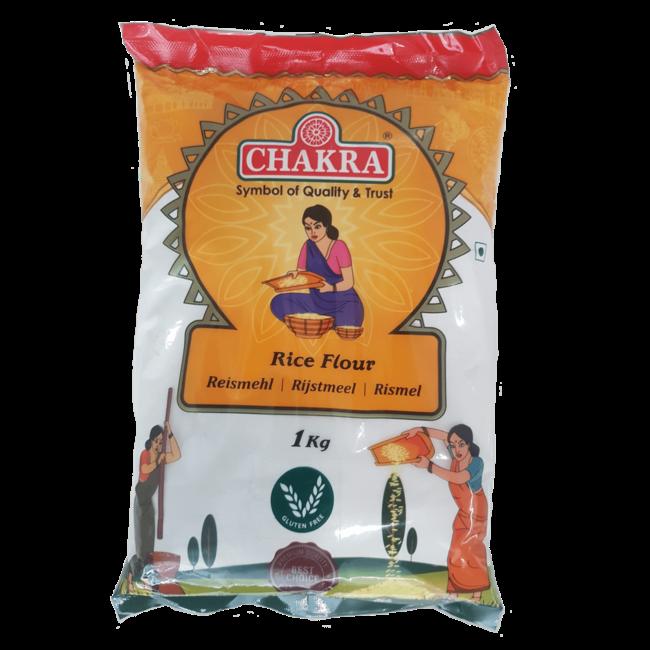 Chakra Ongeroosterd Rijstmeel, 1 kg
