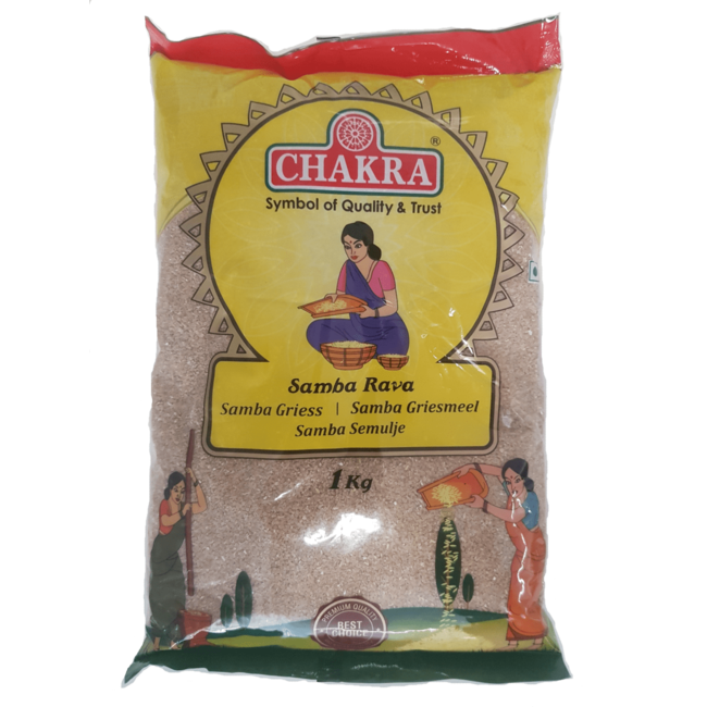 Chakra Samba Rava (samba Griesmeel), 1 kg