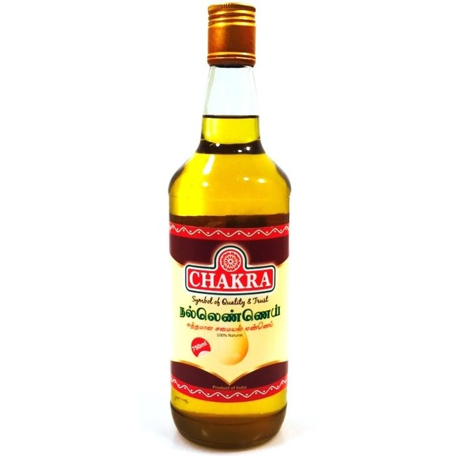 Chakra Gingelly Oil (Sesamolie), 750 ml