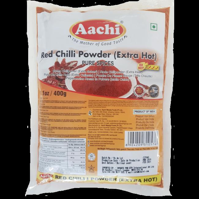Aachi Masala Red Chilli Powder Extra Hot (rode chili poeder)