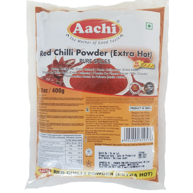 Aachi Masala Red Chilli Powder Extra Hot