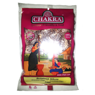 Chakra Betalnut Slices, 100 gr (Arecanoot)