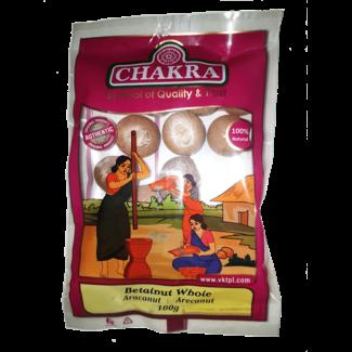 Chakra Betalnut Whole, 100 gr (Arecanoot)