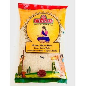 Chakra Ponni Raw Rice (Ongekookte Rijst)