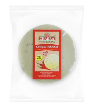 Chakra Chilly Papad (papadums), 100 gr