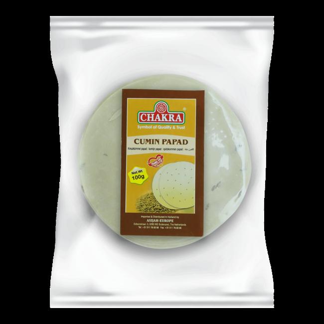 Chakra Cumin Papad (papadums), 100 gr