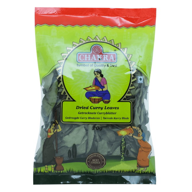 Chakra Dried Curry Leaves (Curry bladeren), 20 gr