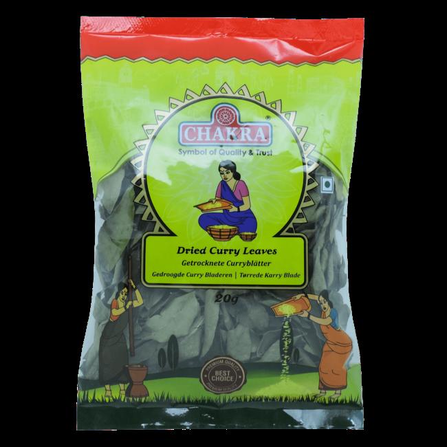 Chakra Gedroogde Curry bladeren, 20 gr