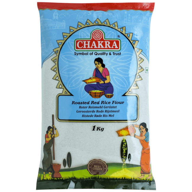 Chakra Roasted Red Rice Flour (Rijstmeel), 1 kg