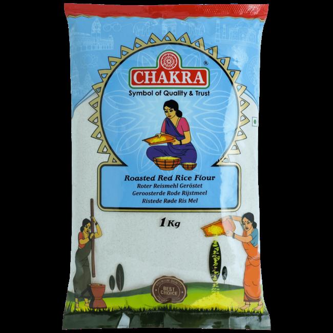 Chakra Roasted Red Rice Flour (Rijstmeel), 1 kg