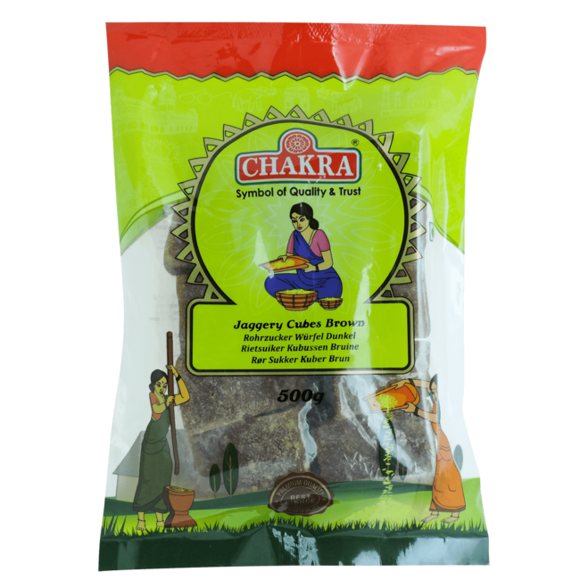 Chakra Jaggery Cubes Brown, 500 gr