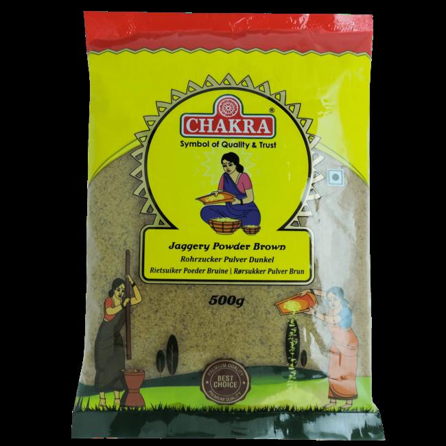 Chakra Jaggery Powder Brown (suiker), 500 gr