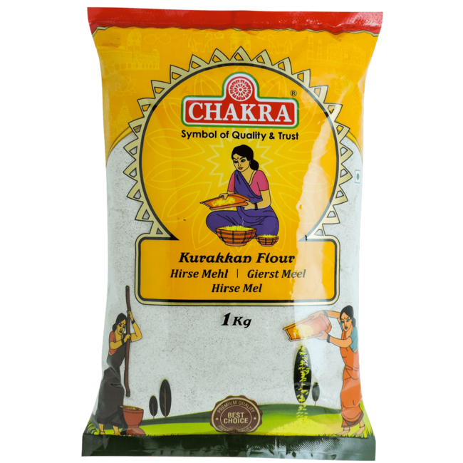 Chakra Ragi - Kurakkan Flour (Gierst Meel), 1 kg