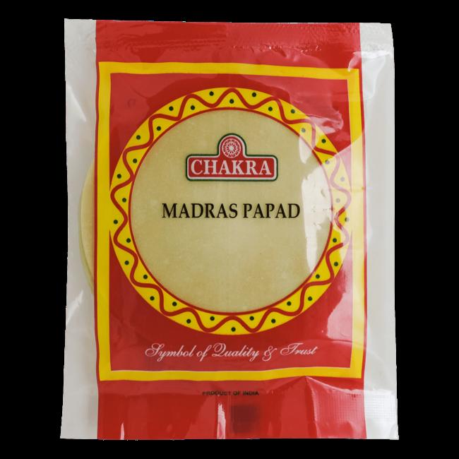 Chakra Plain Papads (papadums), 100 gr