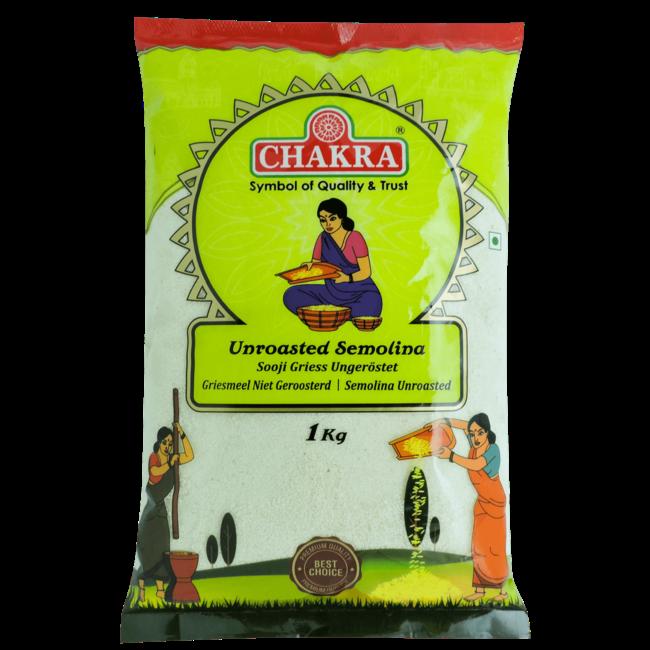Chakra Unroasted Semolina (griesmeel),1 kg