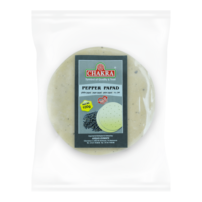 Chakra Pepper Papad, 100 gr