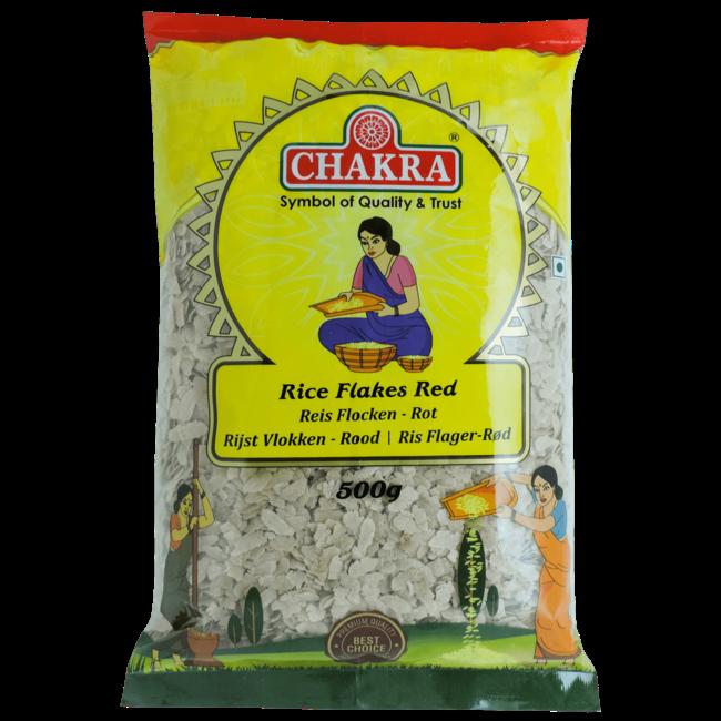 Chakra Rice Flakes Red (rode rijstvlokken), 500 gr