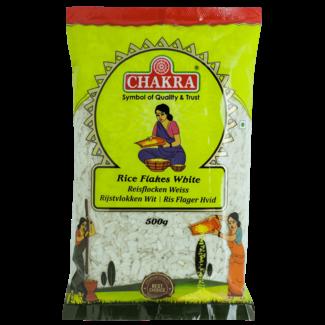 Chakra Rice Flakes White (witte rijstvlokken), 500 gr