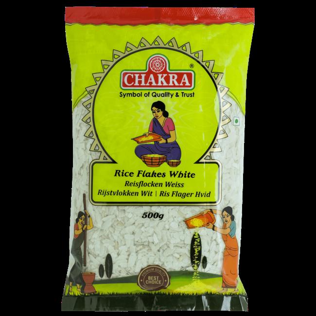 Chakra Rice Flakes White (witte rijstvlokken)