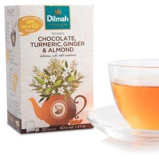 Dilmah Rooibos Thee met Kurkuma Chocolade Gember Amandel