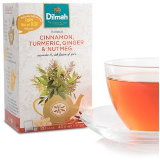 Dilmah Rooibos Infusion Tea - Cinnamon Turmeric  Ginger Nutmeg