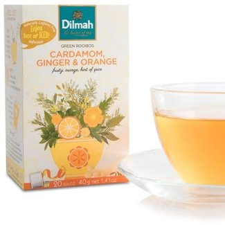 Dilmah Groene Rooibos Infusie Thee met Kardemom Gember Sinaasappel