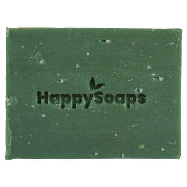 HappySoaps Zeep: Happy Body Bar - Citroen en Basilicum