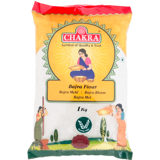 Chakra Bajra Flour (Meel), 1 kg