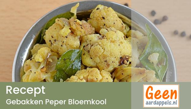Recept: Gebakken Peper Bloemkool met Ponni rijst