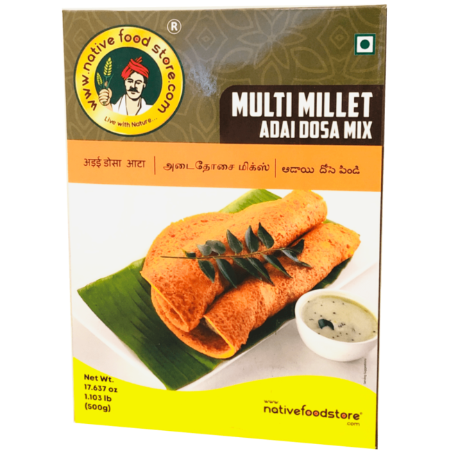 Native Food Multi Millet Adai Dosa Mix, 500 gr