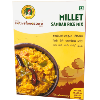 Native Food Millet Sambar Rice Mix - 500 gr (Sadham)